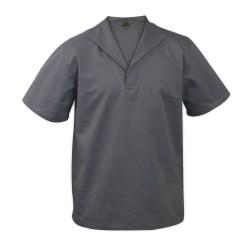 ef122294e Camisa Profissional Gola Italiana Manga Curta Brim Cinza