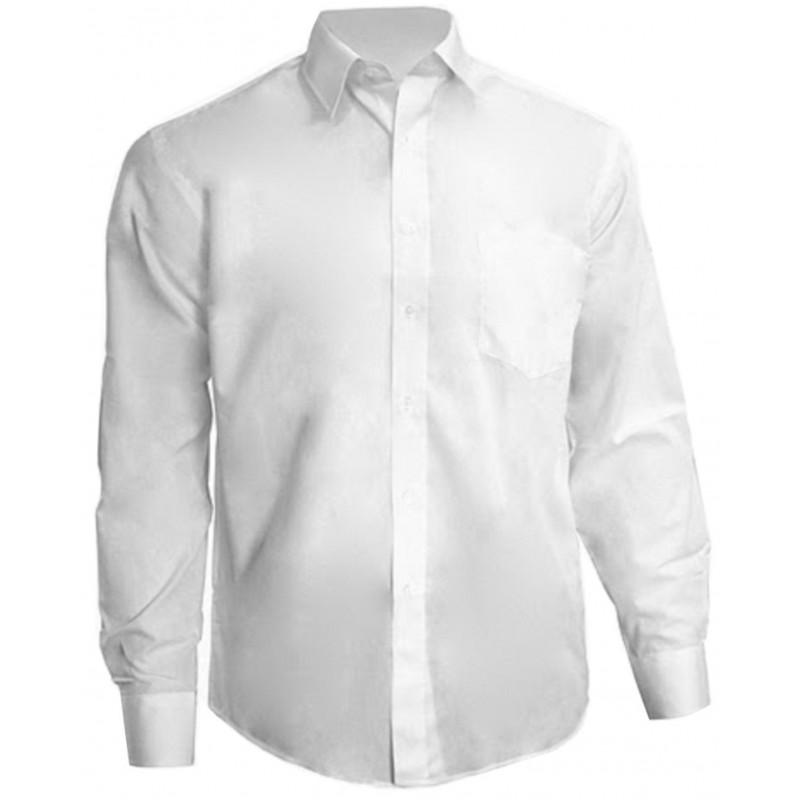 a61caee8c4 Camisa Social Masculina Manga Longa Branca