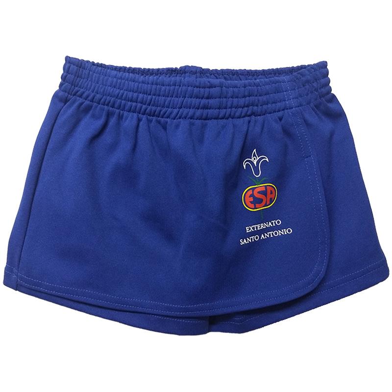Shorts Saia Helanca Azul - ESA 3d826e661629e